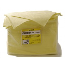 Chemical absorbent pads and rolls